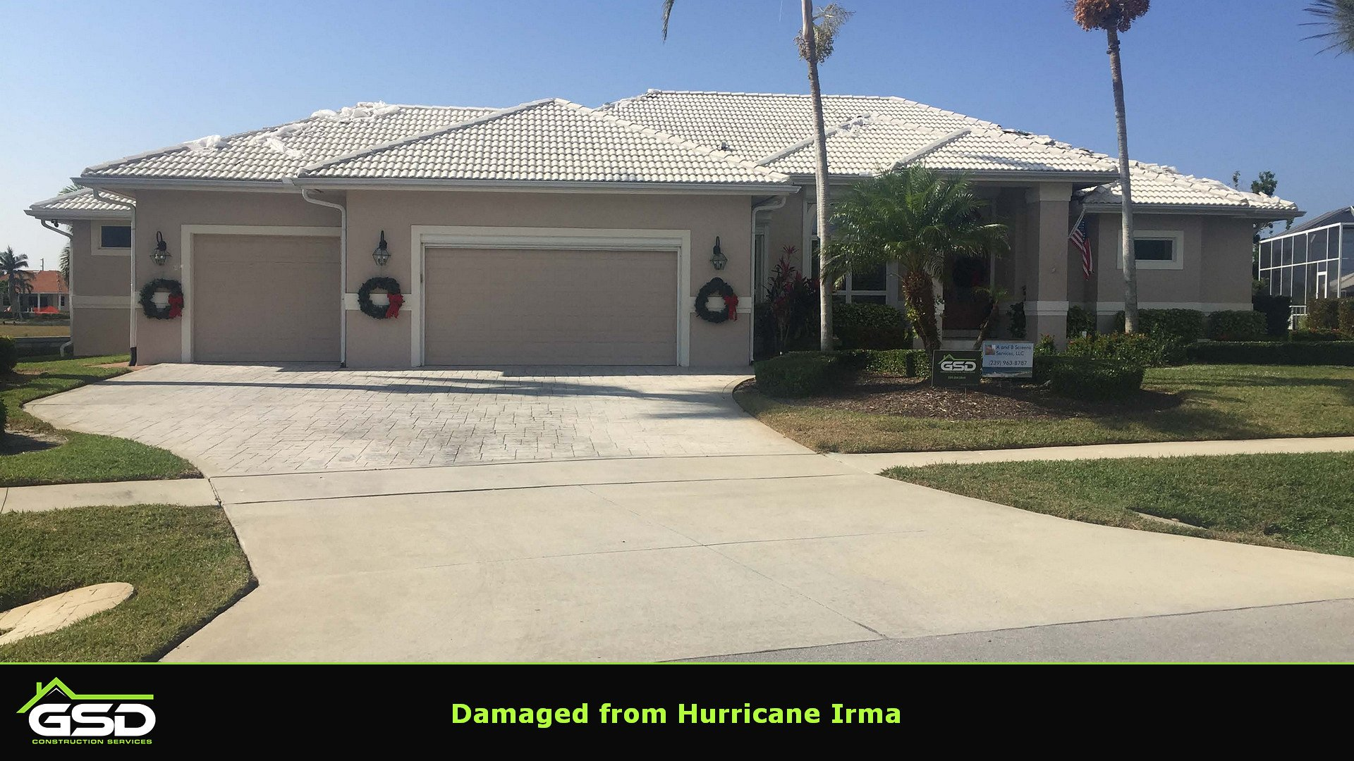Hurricane Irma Damaged Tile Roof Gsd Construction