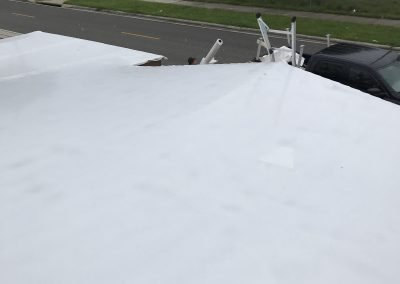 Shrink Wrap roof for preotection