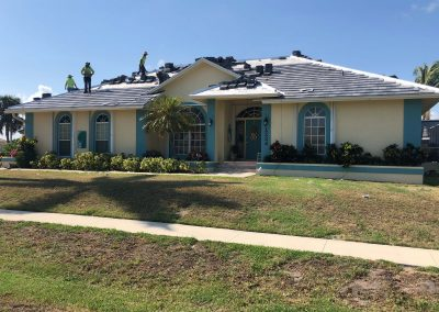 Damaged roof in Marco Island