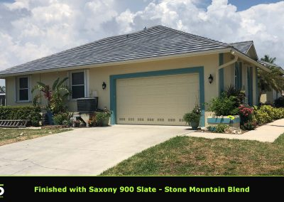 Completed Tile Roof Saxony Slate
