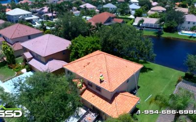 Aerial footage of Tile Replacement