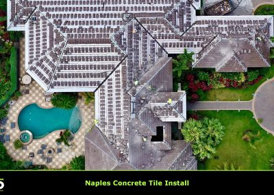 Naples FL Roof Concrete Tile Install